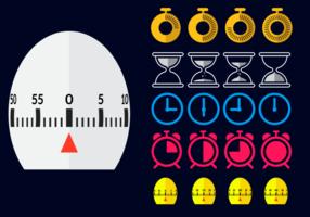 Platt Egg Timer vektor