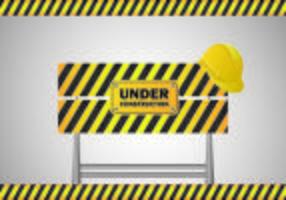 Em Construção Vector Sign
