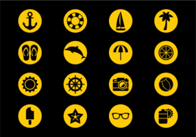 Playa Icons Vector