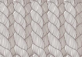 Mão Vector Drawn Pattern Plait