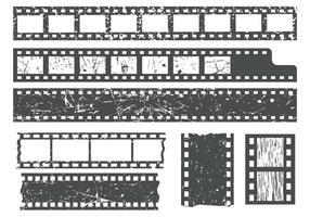 Tiras de películas gratuitas con el vector de la textura del grano