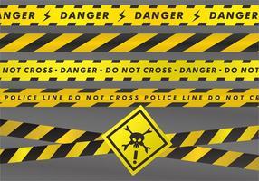 Gefahr Bänder Vektor-Sets