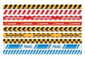 Danger gratuit Ruban Vecteurs Collections