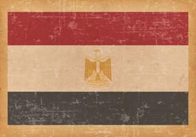 Flag of Egypt on Grunge Background