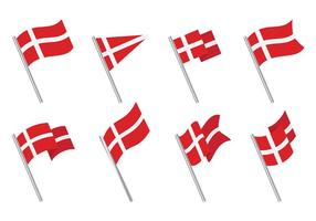 Freie Danish Flag Icons Vector