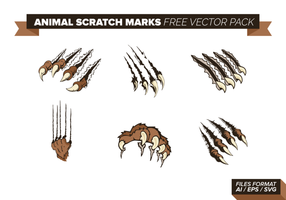 Animal Scratch Marks Vector Pack