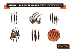 Scratch Animal Marks gratuit Pack Vector