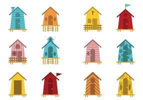 Fun Decorative Beach Hut Vectors