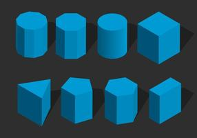 Isometric Geometris Shape Vector