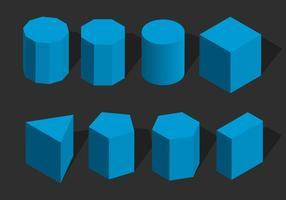 Isometrische Geometris Shape Vector