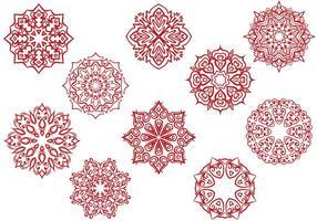 Fria Cirkulära Ornaments Vektorer