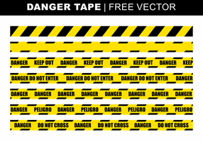 Danger Tape Vecteur libre