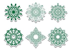 Green Arabische Circle Vector Ornamenten