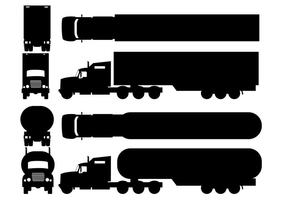 Twee Silhouette Camion Types
