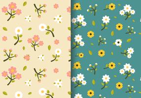 Gratis Vintage voorjaar bloemen patroon