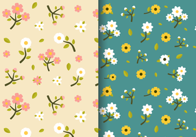 Freie Weinlese-Frühlings-Blumenmuster