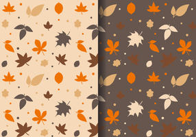 Free Autumn Leaves Pattern vector