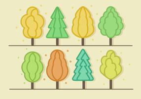 Free Minimalist Trees Vector