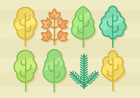 Free Minimalist Leaves Vector