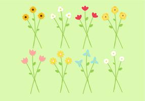 Bouquet livre do vetor das flores