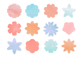Free Vector Flores da aguarela