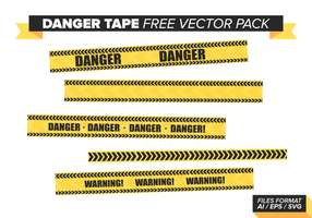 Danger Tape Free Vector Pack