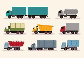 Camiones de trabajo vectorial