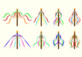Set Of Maypole Icons