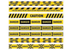 Los vectores de cinta de peligro