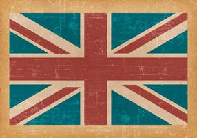 United Kingdom Flag on Old Grunge Background vector