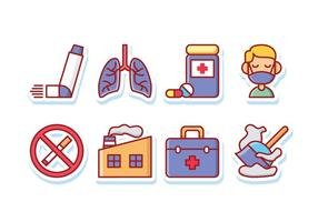 Asthma Symptoms Sticker Icon Pack