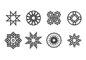 Geometric Islamic Ornaments Vector