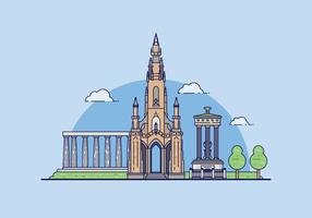 Edinburgh Landmark Illustratie