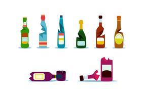 Fullcolor botella rota vector gratuito