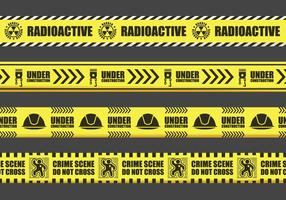 Yellow Danger Tape Sign Vectors