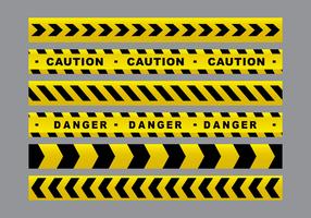 Cinta del peligro amarillo Paquete de vectores