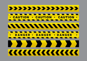 Gefahr Band Vektor Gelb-Pack
