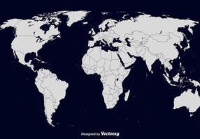 Mapa do mundo vetorial vetor