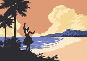 Baile en la Playa del vector