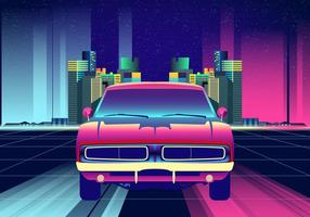 Neon Nights Dodge Charger Auto Vector