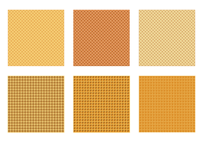 Seamless Waffle Pattern Vectors