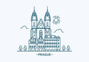 Prag Landmark Illustration