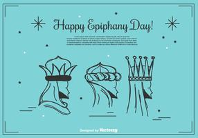 Gelukkige Epiphany Achtergrond van de Dag