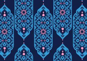 Islamic Ornaments Dark Blue Vector