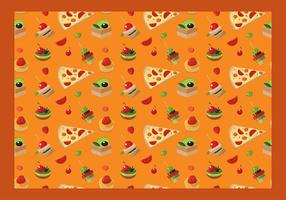 Canapes Seamless Pattern Free Vector