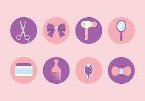 Vettori gratuiti dell'icona degli strumenti di lavoro di parrucchiere