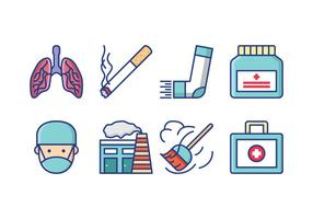 Free Asthma Symptoms Icon Pack vector