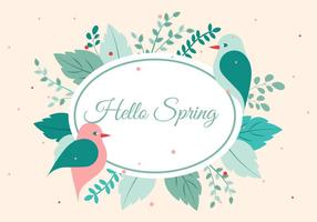 Free Vector Spring Greetings