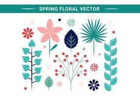 El resorte libre del diseño de las flores del vector
