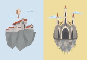 Edin Kingdom Building vektorillustration